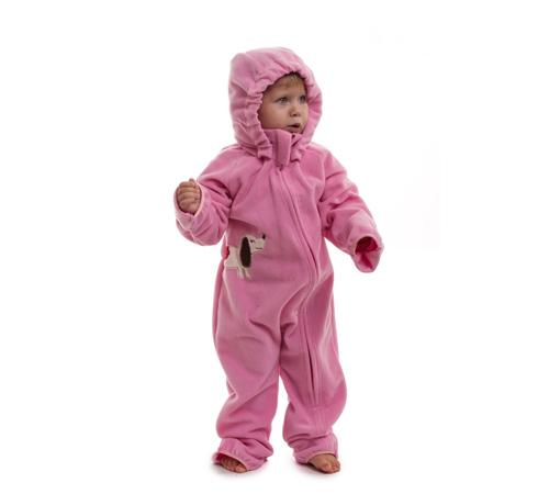 Комфортный флисовый комбинезон для ребенка