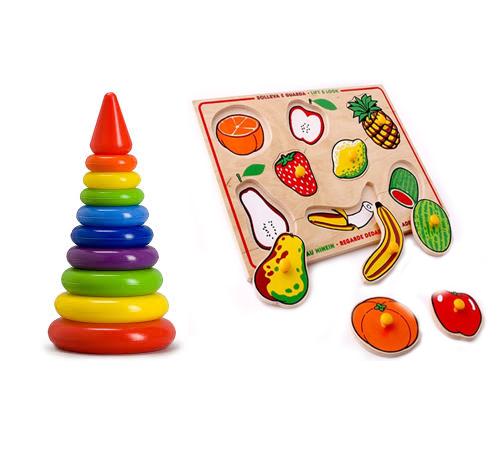 Простой пример игрушек способствующих развитию малыша