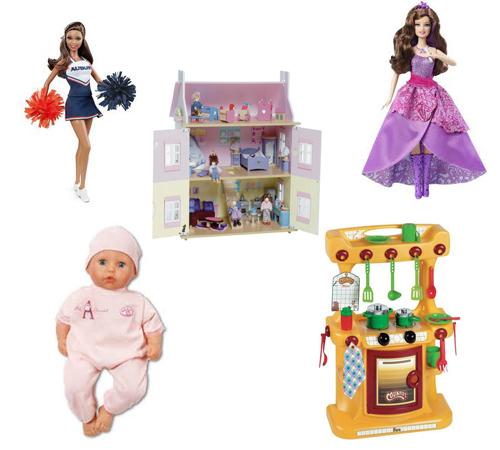 Наиболее популярные наборы игрушек для девочек