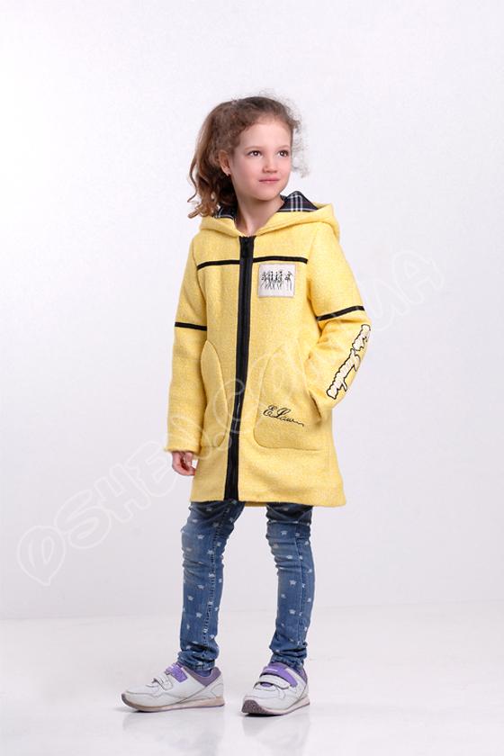 Демисезоннаое пальто для девочек эстер лимонный оптом