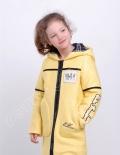 Демисезоннаое пальто для девочек эстер лимонный