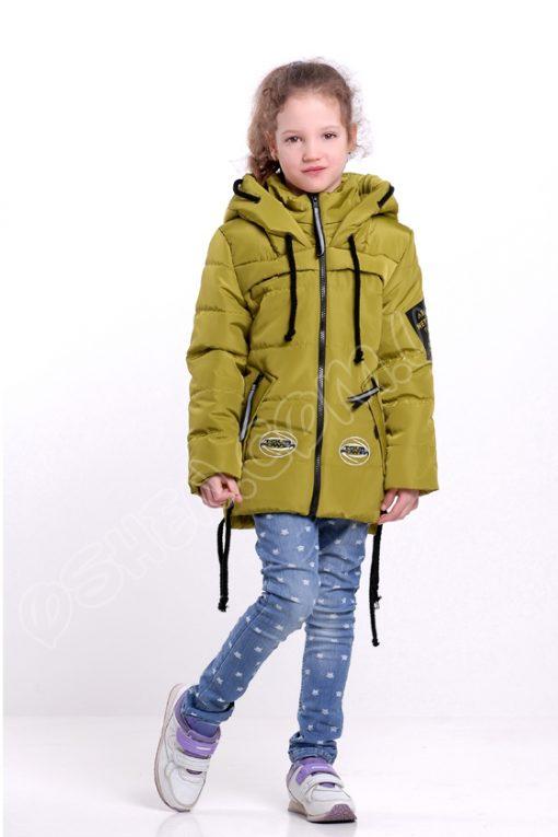 Демисезонная куртка для девочек Энжел В яблочно зеленый