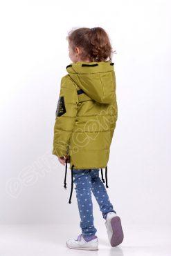 Демисезонная куртка для девочек Энжел яблочно зеленый