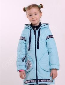 Демисезонная куртка для девочек глассес светло голубой оптом