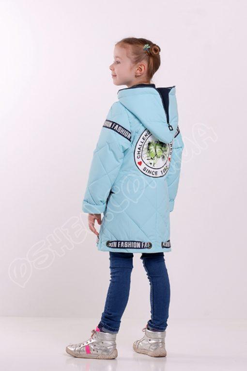 Демисезонная куртка для девочек глассес светло голубой