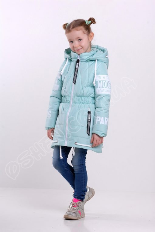 Демисезонная куртка для девочек модница лазурный оптом