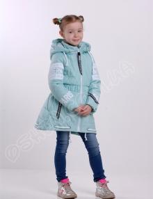Демисезонная куртка для девочек модница лазурный от производителя