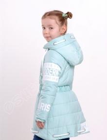 Демисезонная куртка для девочек модница лазурный