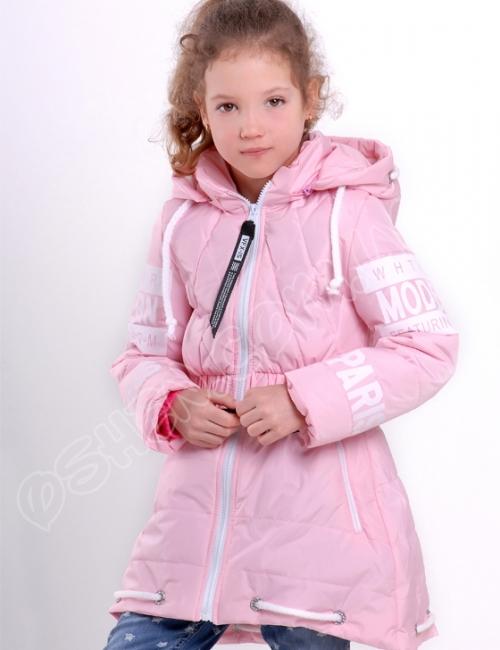 Демисезонная куртка для девочек модница светло розовый оптом