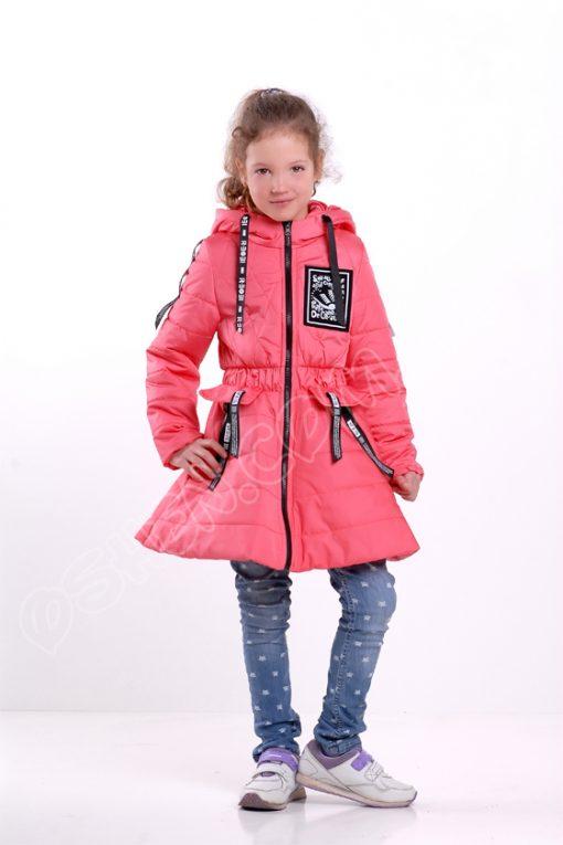 Демисезонная куртка для девочек олдсол розовый оптом