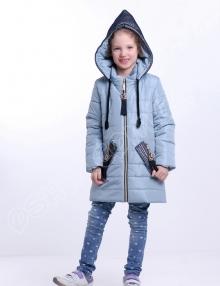 Демисезонная куртка для девочек парис васильковый оптом от производителя