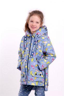 Демисезонная куртка для девочек р боби зонтики