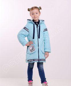 Демисезонная куртка для девочек светло голубой