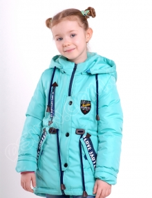 Демисезонная куртка для девочек трюди бирюза