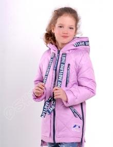 Демисезонная куртка для девочек эмили в сирень