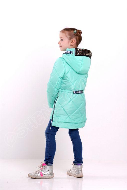 Демисезонная куртка для девочек эмили лазурный