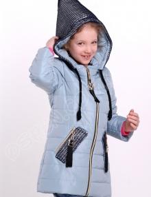 куртка для девочек парис васильковый
