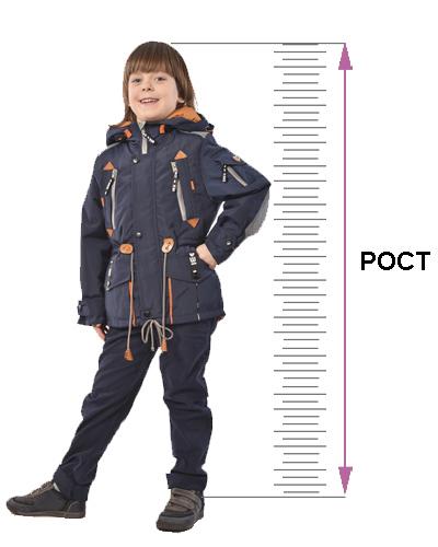 таблица размеров детской верхней одежды