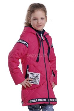 Демисезонная куртка для девочек глассес малиновый