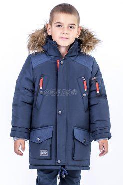detskie zimnie kurtki dlya mal`chikov admiral sinij pered
