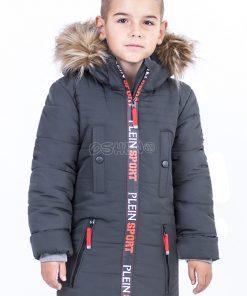 detskie zimnie kurtki dlya malchikov sport grafit pered